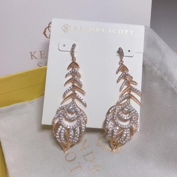 d8bbe2a10 Kendra Scott Jewelry   Elettra Gold Drop Feather Earrings   Poshmark